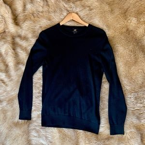 H&M H and M Knit Black Long Sleeve Tee